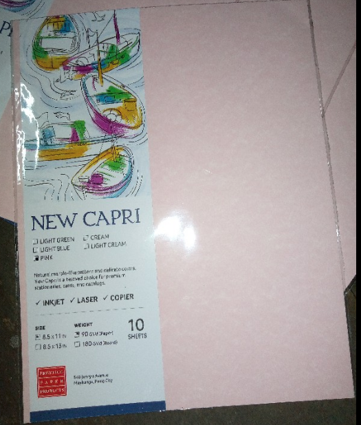 NEW CAPRI 90GSM 8.5X13 CREAM