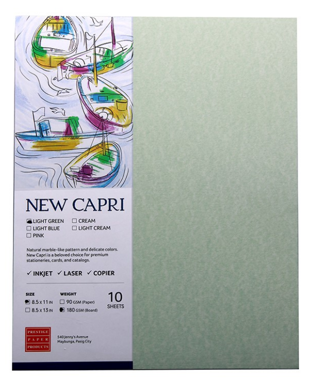 NEW CAPRI 90GSM 8.5X13 L.GREEN
